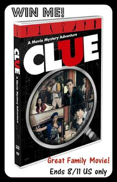 Clue- Movie Mystery Adventure #Review and #giveaway- ends 8/11- US only