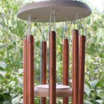 homemade copper wind chimes. Admittedly, much more fun to make when copper was cheep. Still, if you do a remodel or have access to left over pipes... sound lovely.