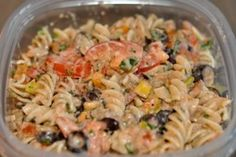tex-mex pasta healthy-style!!! Love it. Added a can of corn and just did green bell pepper rather than red & yellow, also chicken instead of turkey sausage. I have eaten this 3 days in a row and didn't get tired of it. Will repeat this one.