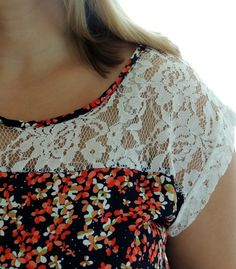 Stitch Fix Birch Lace Detail Blouse Lace