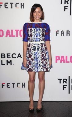 Pin for Later: 20 Times Aubrey Plaza's Outfit Flat Out Blew Us Away When Mixing Prints Was No Big Deal For Her