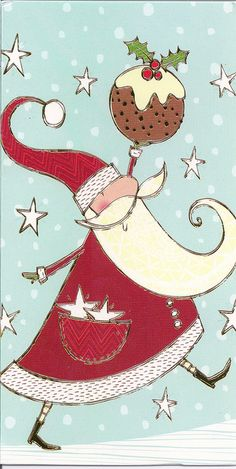 Santa Claus & Stars by Mailbox Happiness-Angee at Postcrossing, via Flickr