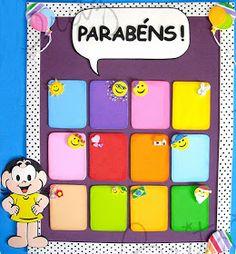 Pra Gente Miúda: 05 Painéis para sala da Turma da Mônica Kids Education, Cube, Toys, Professor, Kids Calendar, Classroom Displays, Wall Posters, School Routines, Childhood Education