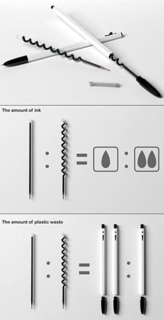 Pen-ink Chamber - by Han Chi-hoon, Kim Yeon-soo, Park Byong-gon & Kim Sung-geun Smart Design, Creative Design, Pen Design, Cool Inventions, Packaging Design, Cool Things To Buy, Cool Designs, Stationery, Design Inspiration
