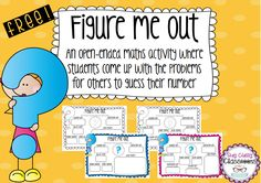 Home :: Resource Type :: Activity Based Learning :: Figure Me Out Maths Printables - FREEBIE