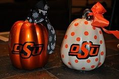I made some school spirit pumpkins for my OSU friends!