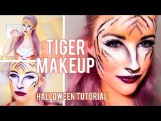 Tiger Halloween Makeup Tutorial | Inthefrow - YouTube