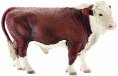 """Schleich Hereford Bull - Schleich - Toys""""R""""Us Farm Animals, Animals And Pets, Dinosaur Toys For Kids, Hereford Cattle, Bryer Horses, Toy Barn, Bullen, Farm Toys, Ceramic Animals"""