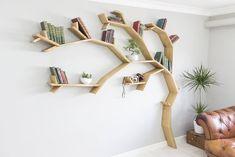 The Windswept Oak Tree Bookshelf #decor#bookshelf #design #interior