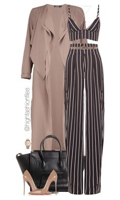"""Untitled #2764"" by highfashionfiles on Polyvore featuring Merona, Boohoo, Movado, Christian Louboutin and Gucci"