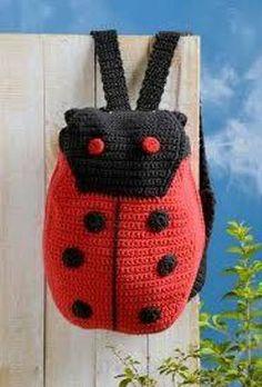 Crochet Back Pack Knit Or Crochet, Crochet For Kids, Crochet Crafts, Crochet Dolls, Crochet Clothes, Crochet Stitches, Crochet Baby, Crochet Projects, Crochet Patterns