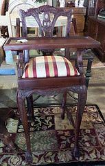 Antique Mahogany High Chair