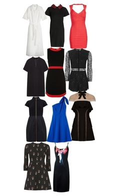 """Cheryl Blossom Dress&Playsuit"" by taught-to-fly19 on Polyvore featuring moda, Raey, Alice + Olivia, Topshop, self-portrait, Ted Baker, Hervé Léger, A.L.C. e Christopher Kane"
