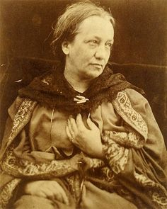 Julia Margaret Cameron was a British photographer. She became known for her portraits of celebrities of the time (19th century), and for photographs with Arthurian and other legendary or heroic themes.