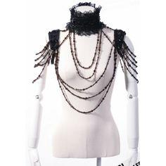 Artisan Handmade Amber Victorian Gothic Fashion Jewelry Choker Rope Necklaces  SKU-71103002