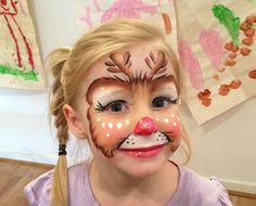 Christmas Rudolf face paint