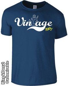 18th birthday gift, Birthday tshirt, Anchor tshirt, vintage, 1997 by RingAndDonut on Etsy