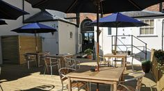 The Strand offers a town centre decked beer garden, perfect hideaway from the busy high street