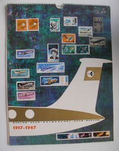 "AVIAEXPORT 1967 AEROFLOT Soviet Russian Airlines BIG 12"" x 16"" CALENDAR AIRPORT in Collectibles, Historical Memorabilia, Other Historical Memorabilia 