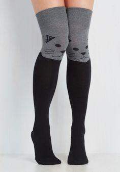 cat thigh highs| $19.99  kawaii pastel goth pastel grunge punk harajuku fachin cat thigh highs stockings socks accessories under20 under30 modcloth