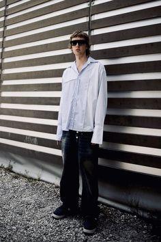 Huuko Koski street style fashion, photo by Christabelle Beaudry Timmermann / Soundvenue Fashion Photo, Style Fashion, Street Styles, Menswear, Normcore, How To Wear, Street Style, Men Wear, Men's Clothing