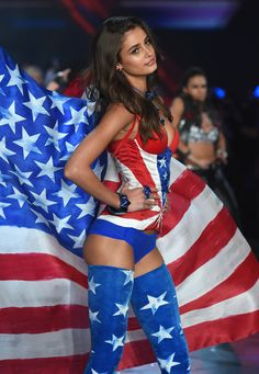 Taylor Hill walks the runway during the 2015 Victoria's Secret Fashion Show.