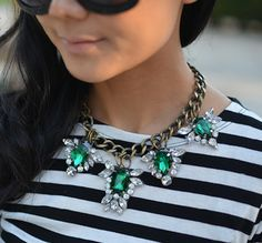 Make your own statement gem necklace with this how-to.