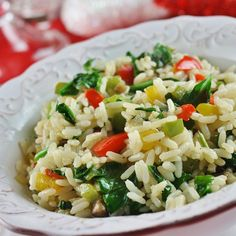 Sunny Pepper Parmesan Rice with Spinach, photo by Rice Side Dishes, Side Dishes Easy, Side Dish Recipes, Rice Recipes, Great Recipes, Cooking Recipes, Healthy Recipes, Spinach Recipes, Vegetable Recipes