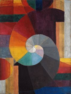 'In the Beginning', 1916 by Paul Klee / 'Everything vanishes around me, and works are born as if out of the void. Ripe, graphic fruits fall off. My hand has become the obedient instrument of a remote will.' Paul Klee Wouldn't how work make amazing quilts? Art And Illustration, Illustrations, Johannes Itten, Paul Klee Art, Expressionist Artists, Art Plastique, Oeuvre D'art, Art Lessons, Painting Lessons
