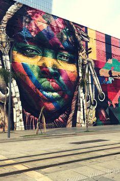 Mural Etnias, Eduardo Kobra - street art no Rio de Janeiro