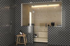 lasiseinä sauna - Google-haku Bathroom Lighting, Sink, Mirror, Google, Furniture, Home Decor, Homemade Home Decor, Bathroom Vanity Lighting, Vessel Sink