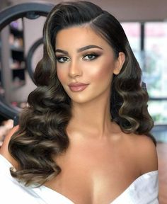 22 ideas for evening hairstyles to take over! - 22 ideas for evening hairstyles for . - 22 ideas for evening hairstyles to take over! – 22 ideas for evening hairstyles to take over! Evening Hairstyles, Romantic Hairstyles, Down Hairstyles, Vintage Hairstyles For Long Hair, Classic Hairstyles, Hairstyle Ideas, Gatsby Hairstyles For Long Hair, Retro Hairstyles, Hollywood Hairstyles
