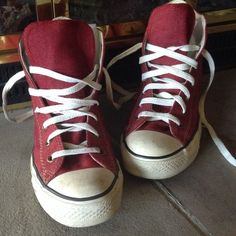 RESERVED High top CONVERSE ALL⭐️STAR sneakers The canvas and bottoms of these shoes are in great condition.  The white rubber toes show a little scuffing.  See picture 2. Converse Shoes Sneakers