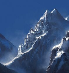 Trendy Ideas For Fantasy Art Landscapes Mountain Castles Fantasy City, Fantasy Castle, Fantasy Map, Fantasy Places, Medieval Fantasy, Fantasy World, Sci Fi Fantasy, Fantasy Art Landscapes, Fantasy Landscape