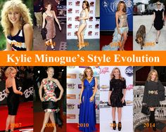 Kylie Minogue's Style Evolution since her debut on Neighbors TV show on 1988 until Dolce Gabbana fashion show on January 2014