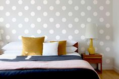 Wall Stencil Polka Dot Circles Geometric Pattern by OMGstencils, $27.00