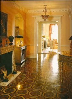 New York City Apartment - stenciled floor featured in Timeless Elegance – The Houses of David Easton