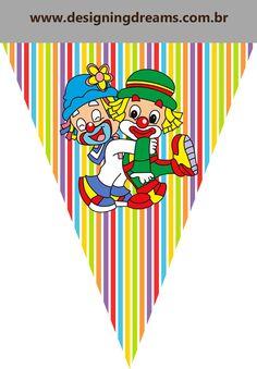 Clique na imagem para ampliar e só depois mande salvar.   Gostou? quer uma encomenda personalizada?   contatodesigningdreams@gmail.com   h... Circus Theme, Circus Party, Mickey Mouse, Balloons, Kids Rugs, Baby Shower, Logos, Gabriel, Calendar