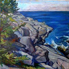 Oil Painting Landscape Boar's Head/ by wickstromstudio on Etsy, $420.00