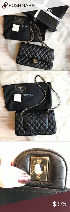 Chanel classic flap bag medium Price reflects, used a few times but in good condition, I've included pictures of any signs of wear inside, and the box is a bit damaged. Perfect on the outside. Comes with dust bag, box, card. Can be worn as a cross body or shoulder bag. Looks very much like the real thing! lower on venmo! I can only ship august 13th so buy accordingly!! NO TRADES CHANEL Bags Shoulder Bags