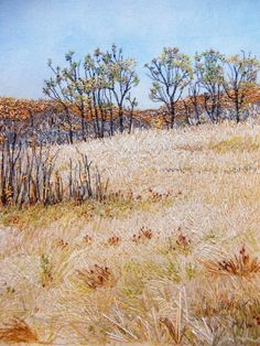 My Sweet Prairie: Autumn at Cranberry Flats - Just beautiful thread painting and embroidery!--- ----My grandmother used to do this (AJ)....