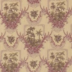 0523503 Bayan Meadow Plumwood by Vervain Fabric - Rayon, Cotton USA see fabric sample Horizontal: inches and Vertical: inches 54 inch min (See samples) - Fabric Carolina - Drapery Fabric, Fabric Decor, Fabric Design, Chair Fabric, Flower Pattern Design, Flower Patterns, Purple Home Decor, Embroidery Works, Embroidery Patterns