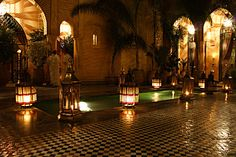 Yacout: The old palace where we dined in Marrakech