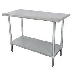 """Advance Tabco Wide Space-Saver Height Adjustable Stainless Steel Top Workbench Size: 24"""" H x 35.5"""" W x 18"""" D"""