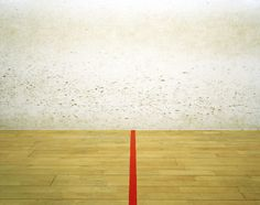 Racquetball court. . Photographed by Elliott Wilcox.