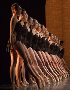 Pacific Northwest Ballet company dancers in Crystal Pite's Emergence (Photo: Angela Sterling)
