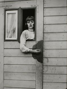 Circus worker in her caravan, by August Sander. One of his most famous images; just tremendous.