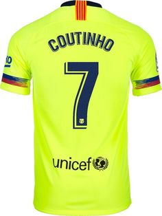 6d94be195 FC Barcelona Football club Coutinho  7 Away Nike 2018-19 FÚTBOL SOCCER KIT  CALCIO