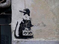 Banksy Rat, Bansky, Rats, Rapper, Graffiti, Stencils, Street Art, Space, Robin