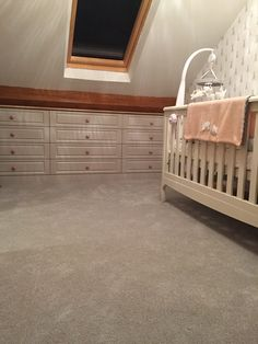 Loft conversion nursery - under eaves drawers by Summerbridge Doors in colour Cashmere Drawer handles from & Loft conversion - Oak doors and oak skirting | The finished ... Pezcame.Com